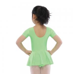 Short Sleeve Leotard with Skirt