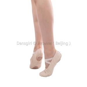 Full Leather Split-sole Ballet Slipper with Extra Line