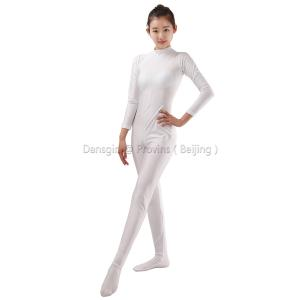 Turtle Neck Long Sleeve Unitard (Footed)