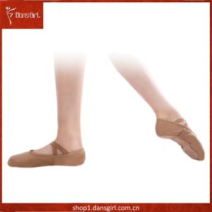 Full Leather Full-sole Ballet Slipper with Extra Line