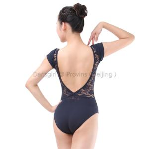 Cap Sleeve Leotard with Lace Back