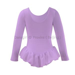 Long Sleeve Leotard with Chiffon Skirt