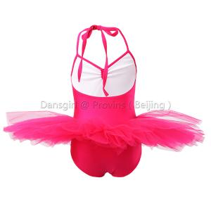 Halter Leotard With 7 Layers Tutu