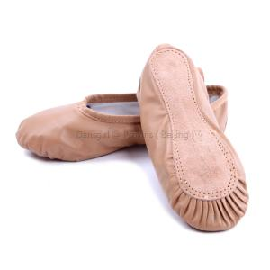 Full Leather Full-sole Ballet Slippers