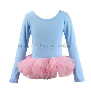 Long Sleeve Leotard with Bow Back and Tutu Skirt