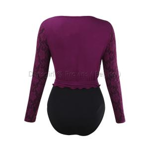 Adult Long Sleeve Overlap Front Top