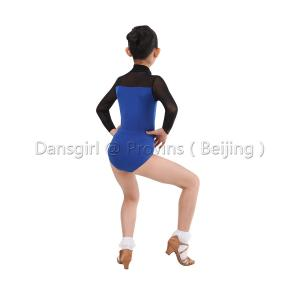 2018 New Two-tone Ballroom Dance Leotard With Mesh