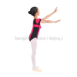 Kids Short Sleeve Two-tone Leotard