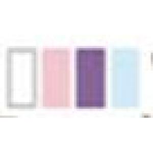 White + Pale Pink + Light Grape Purple + Pale Blue