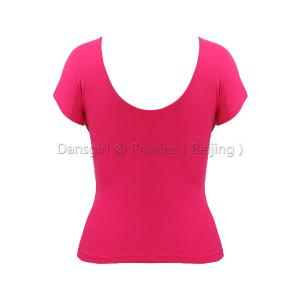 V Neck U Back Short Sleeve Top