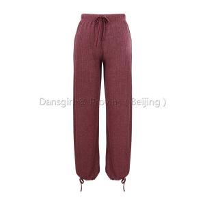 Long Pants with Drawstrig Waist & Cuff