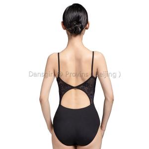 Open Back Camisole Leotard with D Lace