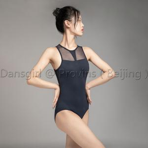 Sleeveless Leotard With Mesh