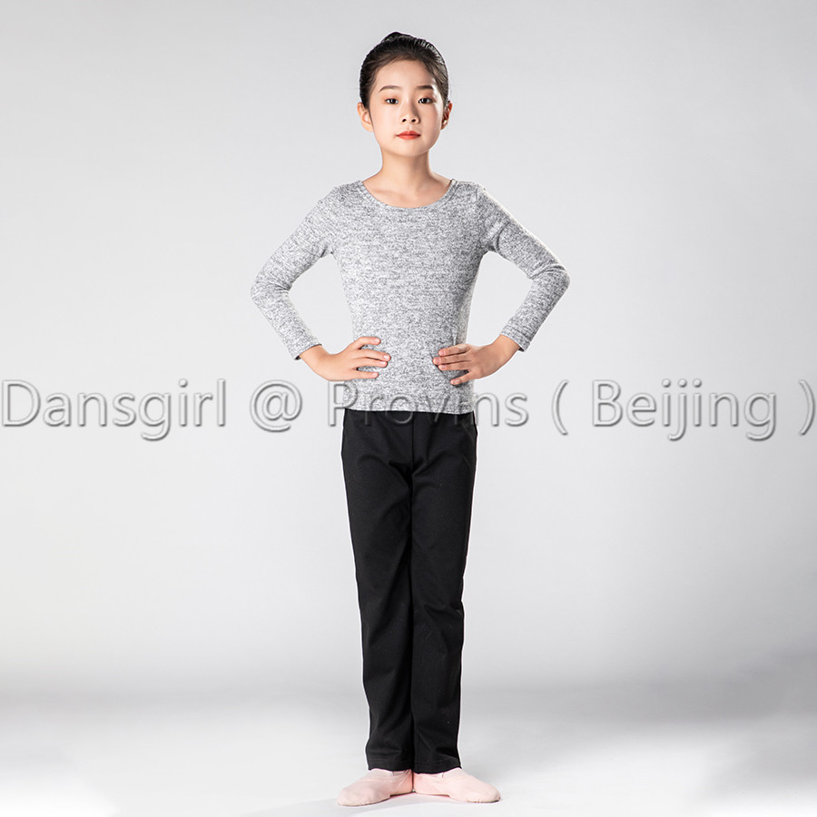 Child Round Neck and V Back Long Sleeve Top