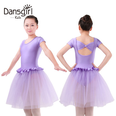 Short Sleeve Leotard with Tutu