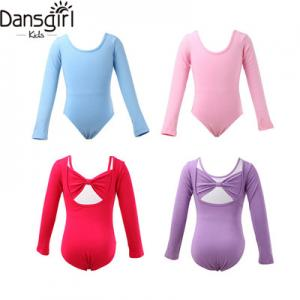 Girls Long Sleeve Bow Back Leotard