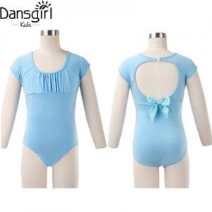 Child Bow Back Cap Sleeve Leotard