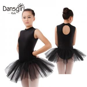 Turtle Neck Sleeveless Leotard with Tutu