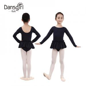 Long Sleeve Leotard with Ruffle Waist