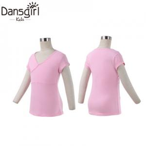 Child Cap Sleeve Top with Overlap Front