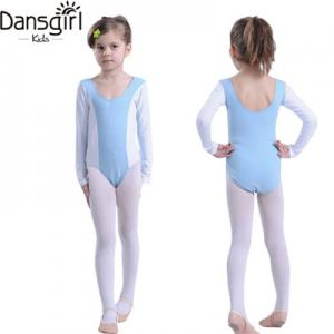 Long Sleeve Two-tone Leotard