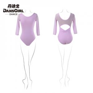 2017 Adult 3/4 Sleeve Leotard With Mesh Sleeve and Back
