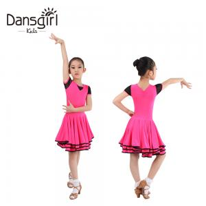 2018 Turtle Neck Basic Latin Skirt For Dance Grading