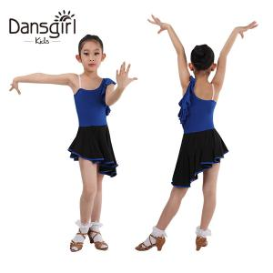 New Child One Shoulder Latin Dress