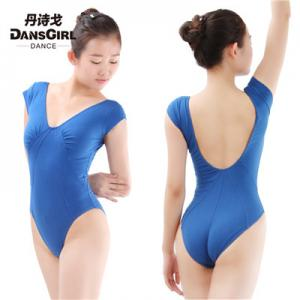 Cap Sleeve Leotard with V Back