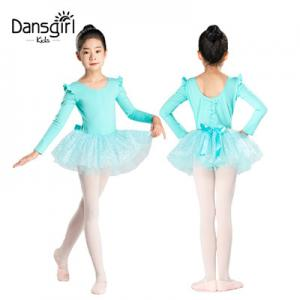 Long Sleeve Leotard with Tutu Skirt