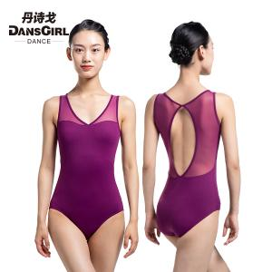 V Neck Sleeveless Mesh Leotard