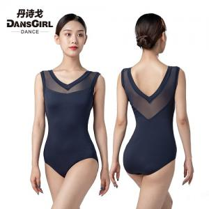 V Mesh Neck Sleeveless Leotard