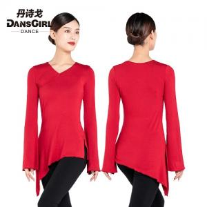 Flared Long Sleeve Asymmetrical Top