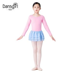 Long Sleeve Leotard With 3 Layers Chiffon Skirt