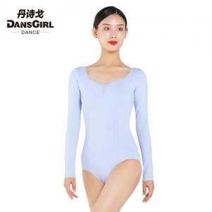 Long Sleeve Leotard With Pinch Front & Back